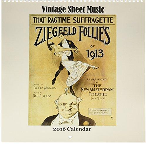 UPC 810613027093, Nouvelles Images Vintage Sheet Music Square Calendar (YS 1000)