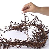 Factory Direct Craft® Full and Flexible Burgundy Pip Berry Garland for Home Decor and Interior Decorating
