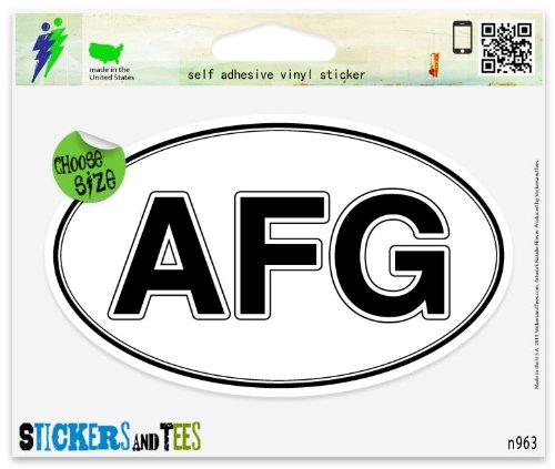 Afghanistan Oval AFG Oval Car Sticker Indoor Outdoor 5
