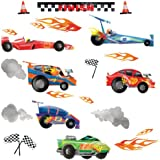 RoomMates RMK1865SCS Anthony Morrow Race Car Peel and Stick Wall Decals