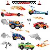 RoomMates RMK1865SCS Anthony Morrow Race Car Peel and Stick Wall Decals Picture