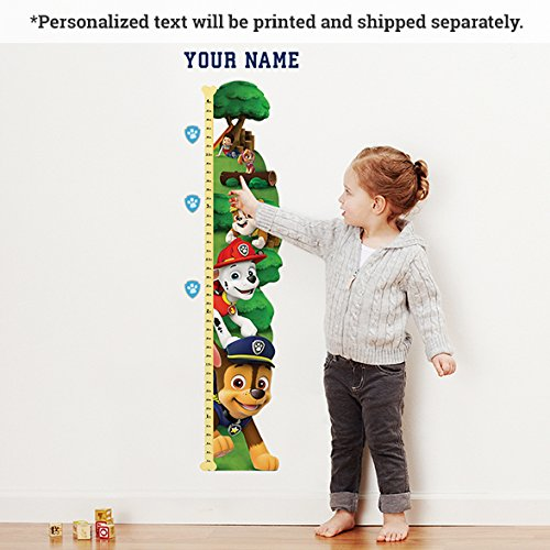 Personalized Paw Patrol Growth Chart by Oliver's Labels