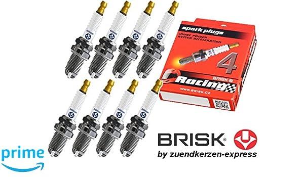 BRISK Premium Racing DOR15LGS 3026 Bujías de Encendido, 8 piezas: Amazon.es: Coche y moto
