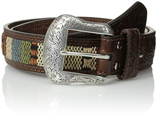 Southwest Inlay - Nocona Belt Co. Men's Fabric Inlay, Brown, 46
