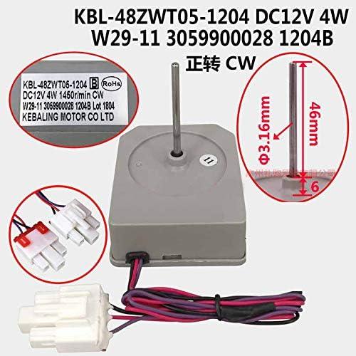MIN KBL-48ZWT05-1204 Motor de Ventilador de refrigerador Ajuste para TCL Homa Dropshipping Ymhan/® DC12V 4W 1450R