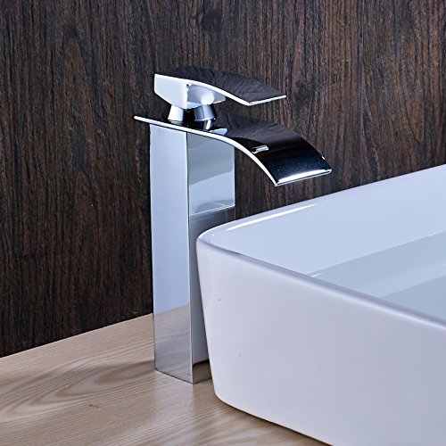 hot sale 2017 Senlesen Waterfall Bathroom Countertop Sink Faucet Basin Waterfall Mixer Tap Tall Body