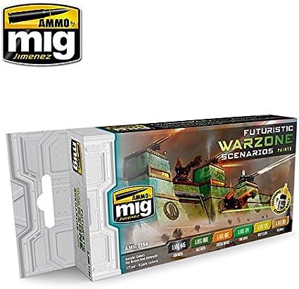 Amazon.com: Munición de Mig futurista Warzone escenarios Set ...