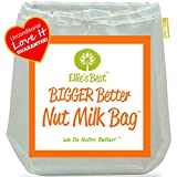 ": Pro Quality Nut Milk Bag - Big 12""X12"" Commercial Grade - Reusable Almond Milk Bag & All Purpose Food Strainer - Fine Mesh Nylon Cheesecloth & Cold Brew Coffee Filter - Free Recipes & Videos (1)"