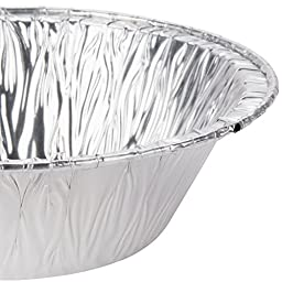 Aluminum Foil Tart Pot Pie Pans, 100 Deep Pans, 5 Inches Diameter, from Baker\'s Mark, Includes One Pair Oven Sleeve Arm Protectors (100, 5 inches diameter)