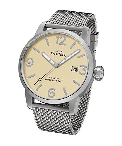 TW Steel Men's 'Maverick' Quartz Stainless Steel Casual Watch, Color:Silver-Toned (Model: MB2)