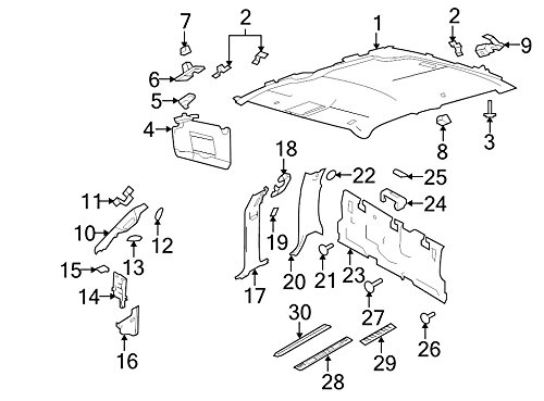 Ford CL3Z-1503598-AB - Moulding Windshield