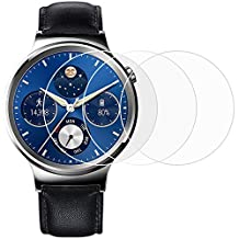 Screen Protector for Huawei Watch, AFUNTA 3 Pack Tempered Glass Film Anti-Scratch High Definition Cover for Smartwatch