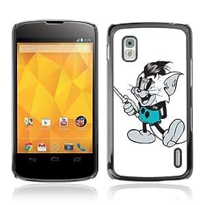 Designer Depo Hard Protection Case for LG Nexus 4 E960 / Vintage Mouse