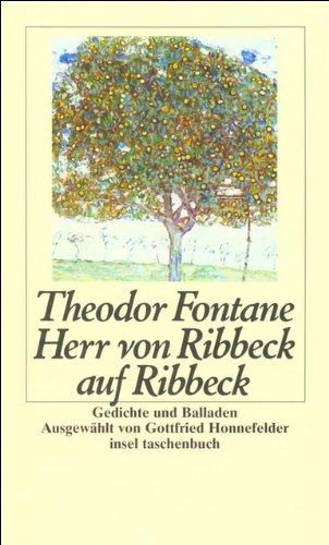 Herr Von Ribbeck Auf Ribbeck  Gedichte Und Balladen  Insel Taschenbuch