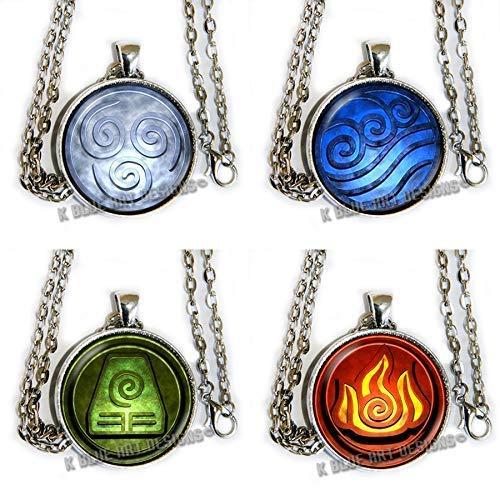 Avatar Airbender Symbol Set of 4 - pendant necklaces - HM -