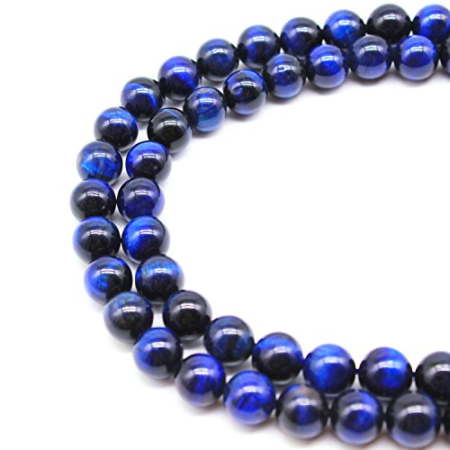 Gold Obsidian (JARTC Rare Collection Natural Stone Beads Deep Blue Tigereye Round Loose Beads For Jewelry Making Diy Bracelet Necklace (10mm))