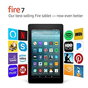 Fire 7 Tablet  (7″ display, 8 GB) – Black – (Previous Generation – 7th)