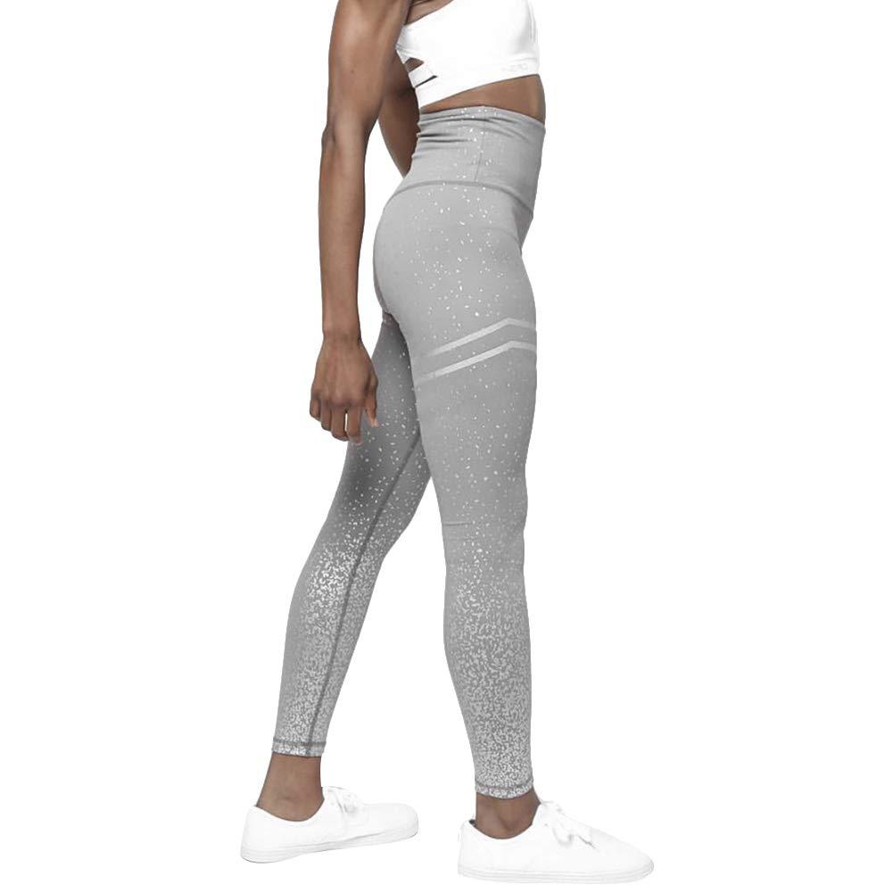D-SYANA8 Mallas Leggings Mujer Yoga Pantalones Deportivos Punto de Dorado de Alta Cintura El/ásticos y Transpirables para Yoga Running Fitness polainas Gimnas