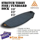 Komunity Project Retro/Fun Surfboard Stretch Terry Board Sock (6'0'', Warm Wax)