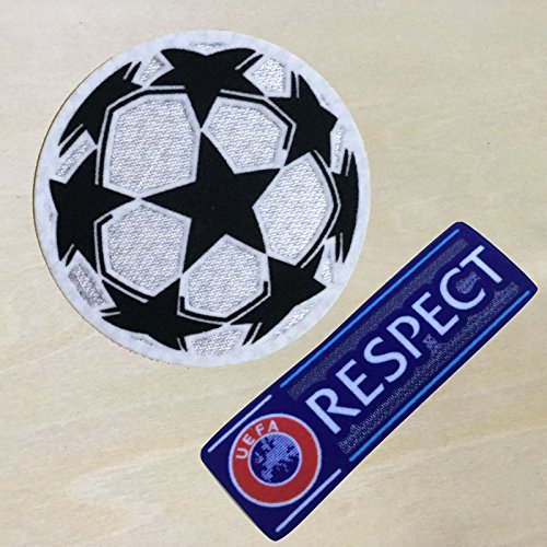 [FairyMotion 2 Pcs Champion League Respect Ucl Soccer Patch Badge Cashmere Material Velvet Perfect] (Angel Costume Tumblr)