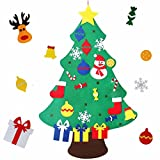 Felt Christmas Tree, MeeDoo 3.28FT DIY Christmas Tree with 30pcs Ornaments Wall Decoration for New Year Kids Christmas Xmas Gifts, Door Wall Hanging Xmas Decoration