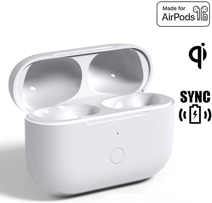 Reemplazo de la Caja de Carga inalámbrica de actualización Compatible con AirPods Pro, Estuche de Carga para Air Pod Pro Auriculares con Botón de Sincronización de Emparejamiento Bluetooth: Amazon.es: Electrónica