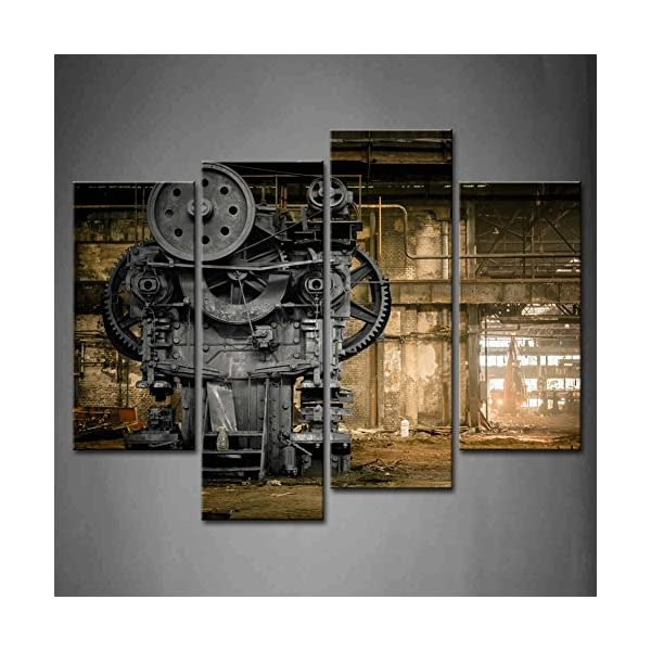 Wall Art Metallurgical Firm Waiting for A Demolition Machine Old Factory Painting Pictures Print On Canvas Architecture… 3