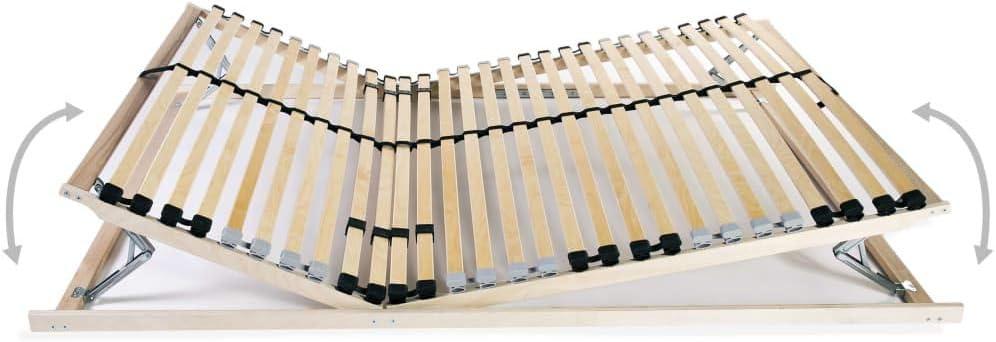 FAMIROSA Sommier /à Lattes avec 28 Lattes 7 Zones 140 x 200 cm FSC