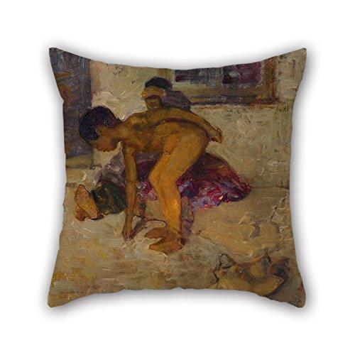 Oil Painting D. K. Richmond - Purple And Bronze Throw Cushio
