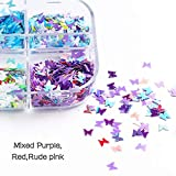 Holographic Butterfly Nail Art Decoration Sequins