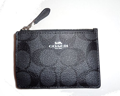 COACH F16107 MINI SKINNY ID BADGE KEY RING CASE Black Smoke/ - Coach Usa Outlet