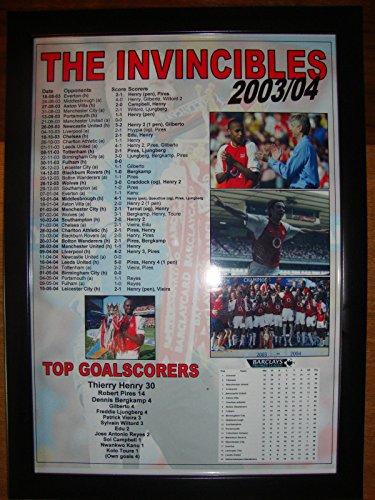 2003 Framed - Lilywhite Multimedia Arsenal Invincibles 2003-04 - Framed Print