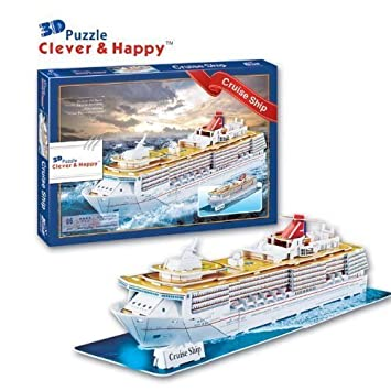 Amazoncom Free Shipping CleverHappy D Puzzle Model Cruise Ship - Educational cruise ships