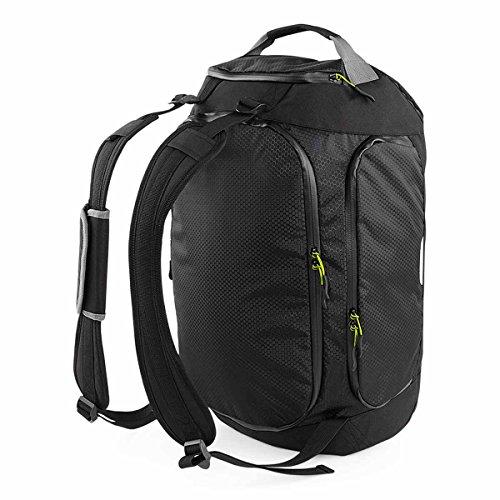 Quadra–Sacchetto di sport–borsa viaggio trasformabile Zaino–qx550–Nero–Misto Uomo/Donna