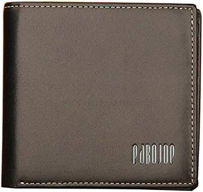 Pabojoe Men's Extra Capacity Bifold Trifold Wallet