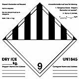 """Instrucciones DL1281 Label, """"No se requiere Declaración del remitente"""" Legend, 6 """"Largo x 6"""" Ancho, Negro / Blanco (Rollo de 500"""