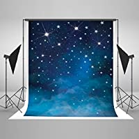 5x7ft Evening Blue Sky Photography Backdrops No Wrinkles Fantasy Stars Background For Children Birthday Photo Studio