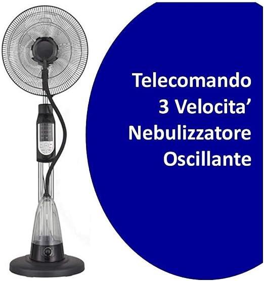 Ventilador nebulizador Brio Agua 2,5 l 3 velocidades con mando a distancia: Amazon.es: Hogar