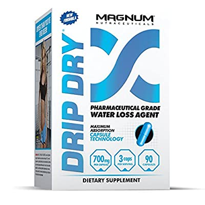 Magnum Nutraceuticals Drip-Dry - 90 Capsules - Reduce Water Weight - Defines Lean Muscle - Strong Natural Diuretic - Define Lean Muscle - Eliminates Muscle Cramps