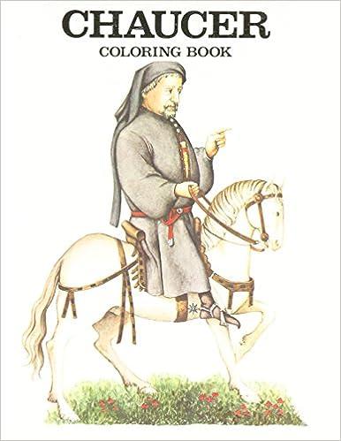Chaucer Coloring Book: Bellerophon Books: 9780883880173: Amazon.com ...