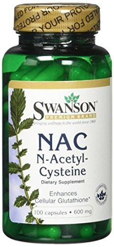 Swanson NAC (N-acetyl Cysteine) 600mg Bottles of 100 > Pack of 2 <