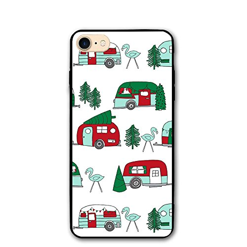 U3JD9D Super Christmas Camper Red And Green Christmas Retro Caravans And 1 IPhone 8s Clear Case Custom 4.7 Inch Print For Iphone - Characteristics Caravan