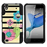 zte quartz protective phone case - ZTE Quartz Case, Full Body Fusion STRIKE Impact Kickstand Case with Exclusive Illustrations for ZTE Quartz Z797C (Straight Talk) from MINITURTLE | Includes Clear Screen Protector and Stylus Pen - Little Turtle