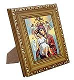 FengMicon Greek Orthodox Church Catholic Religious Icon Mother Mary Baby Christ Catholic Icon (FMPI34-90G)