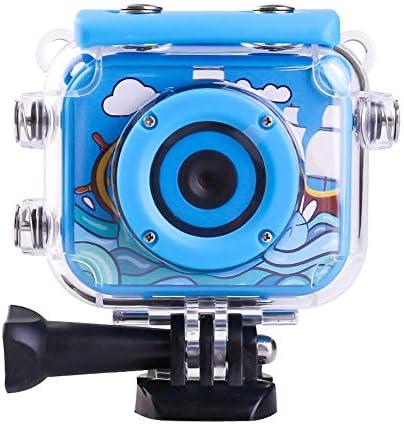 アクションカメラ 1080P子供のスポーツ動画ブログDVカメラ防水およびアンチ秋 水中カメラ ウェアラブルカメラ バイク/自転車/車に取り付け可能 (Color : Blue, Size : One size)