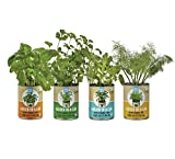 Back to the Roots Garden-in-a-Can Grow Organic Herbs Variety Pack, Basil/Cilantro/Dill/Sage, 4 Count