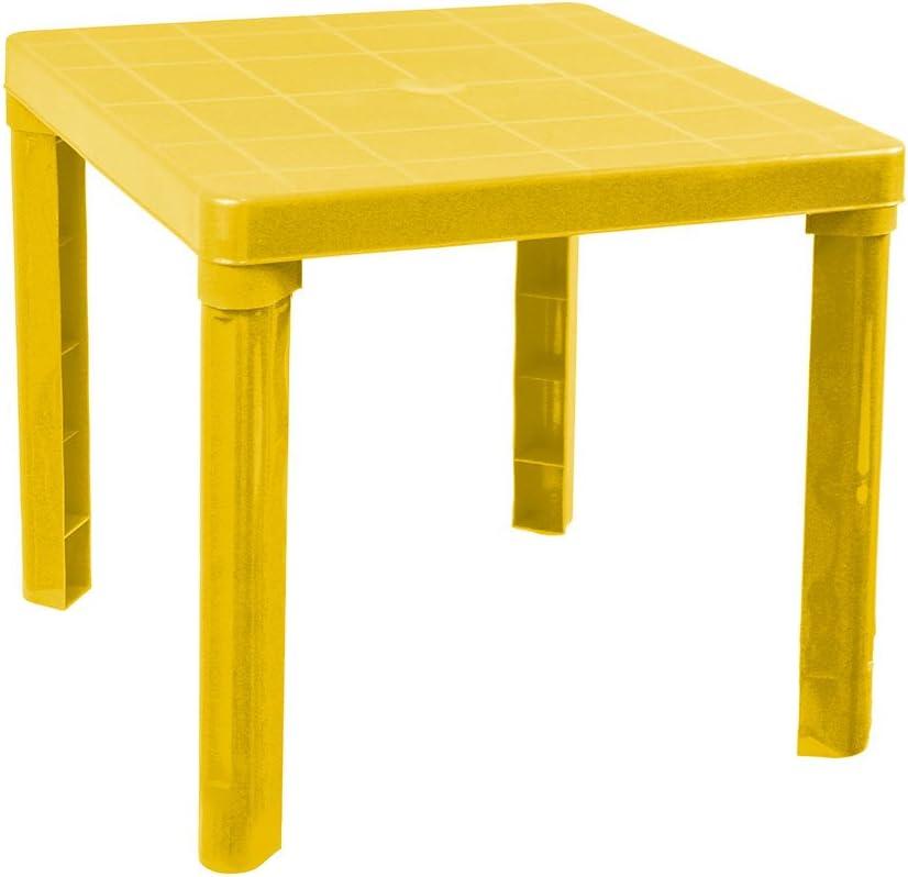 Arancione P58 Vetrineinrete/® Tavolino in plastica colorato per Bambini Tavolo da Gioco per Giardino casa cameretta 45x50 cm Giochi e Giocattoli
