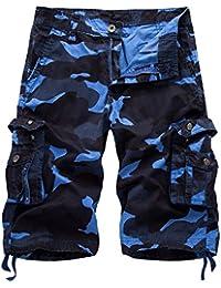 Relaxed Fit Outdoor Comouflage Camo Cargo Shorts Men