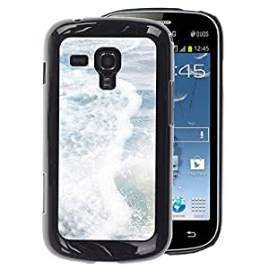 A-type Arte & diseño plástico duro Fundas Cover Cubre Hard Case Cover para Samsung Galaxy S Duos S7562 (Sea Pearly White Sun Summer Surf Waves)