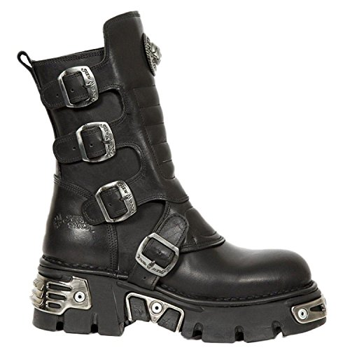 New Rock Womens M.373X.-S28 Crust Reactor Leather Boots Black